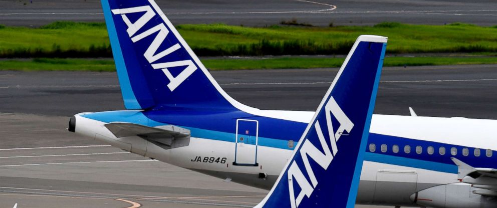 PHOTO: Nippon Airways (ANA) jetliners are seen on the tarmac at Haneda international airport in Tokyo in this Aug. 2, 2017 file photo.