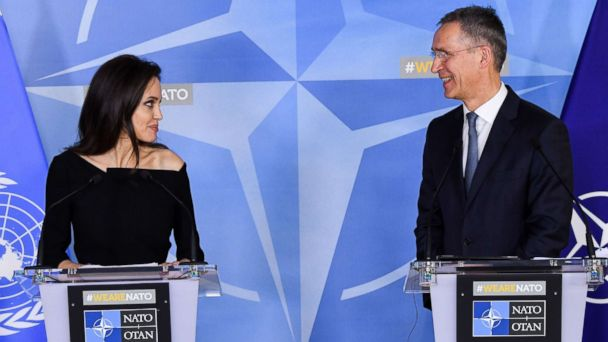 Angelina Jolie joins forces with NATO to tackle crimes against women in war zones