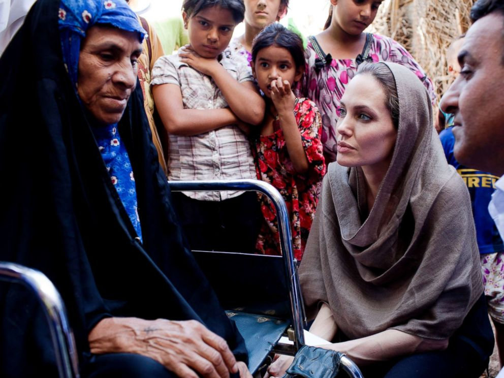 PHOTO: UNHCR Special Envoy, Angelina Jolie continued her regional tour visiting Iraq, Sep. 16, 2012.