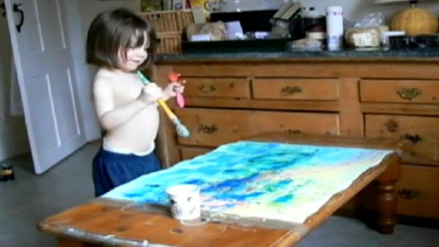 British Toddler's Paintings Go Global