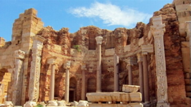 VIDEO: Libyan rebels say Moammar Gadhafi is using Leptis Magna as base for operations.