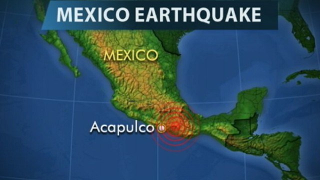 VIDEO: The 7.6 magnitude quakes epicenter is in Guerrero state.