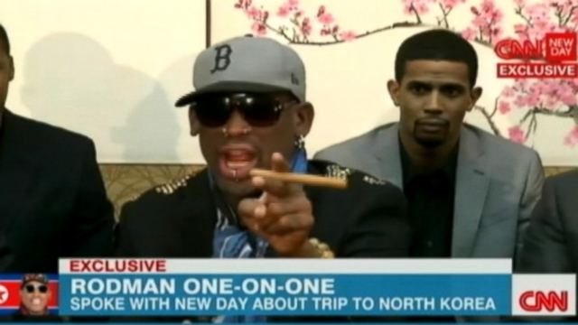 VIDEO: Dennis Rodman curses during interview with CNN about his trip to North Korea.
