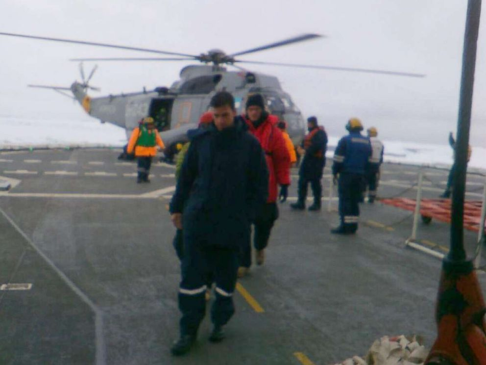 American scientists rescued from icebound Antarctic island