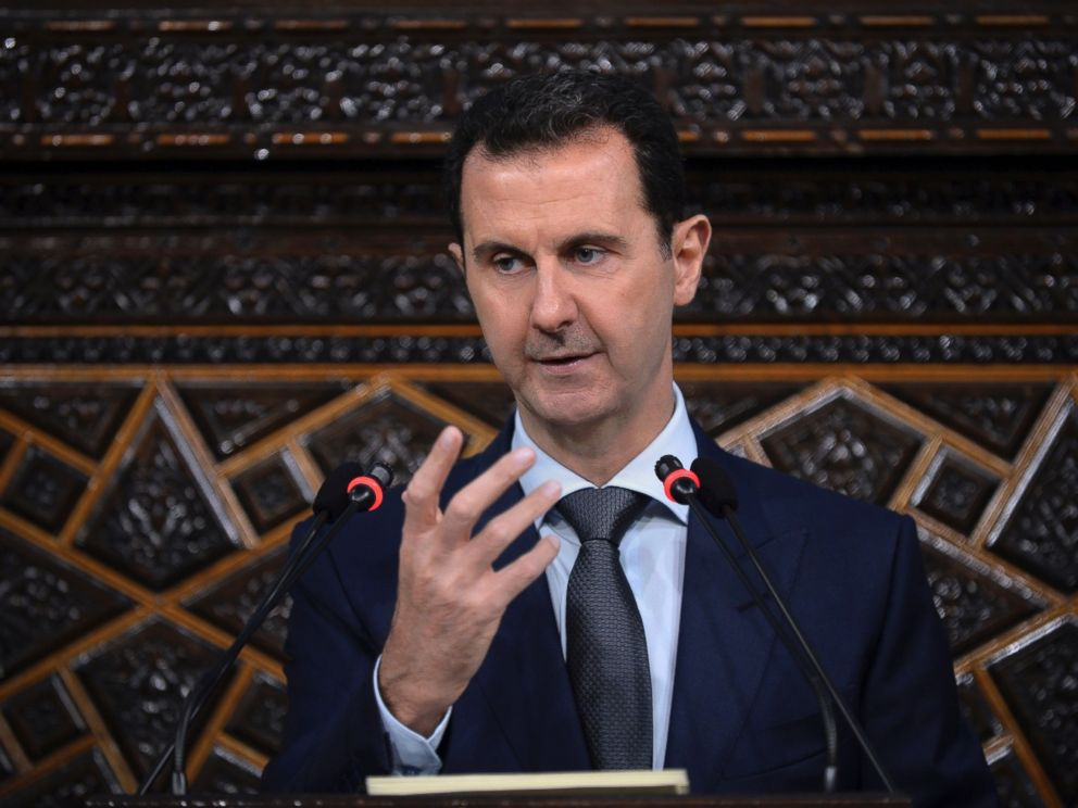 PHOTO: Syrian President Bashar Assad gives speech to parliament in Damascus, Syria, June 7, 2016.