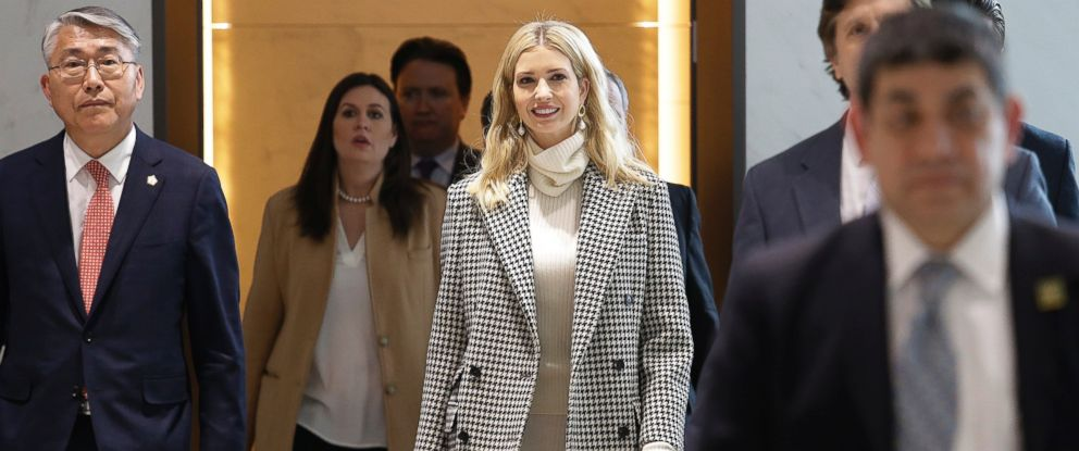 Ivanka Trump, daughter and advisor to U.S. President Donald Trump, arrives at the Incheon International Airport in Incheon, South Korea, Friday, Feb. 23, 2018.