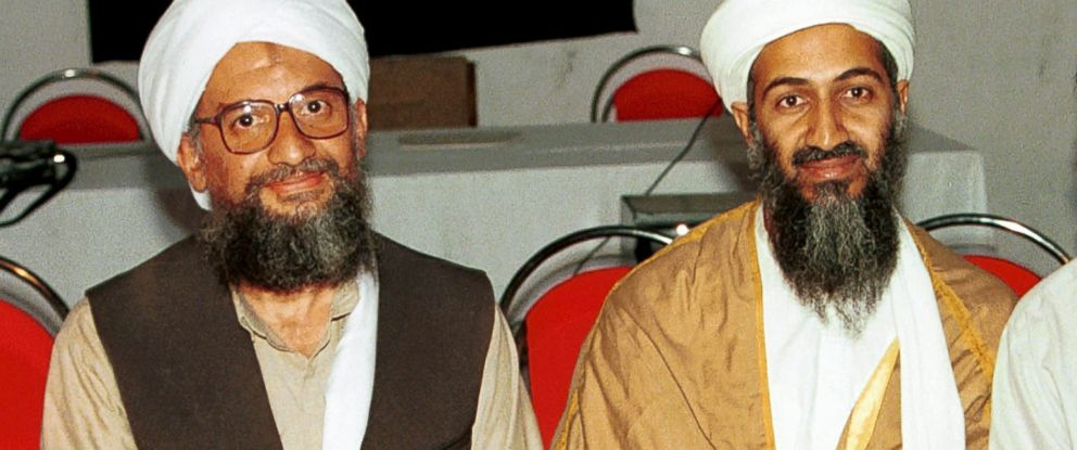 PHOTO: In this 1998 file photo, Ayman al-Zawahri, left, poses for a photograph with Osama bin Laden, right, taken in Khost, Afghanistan.