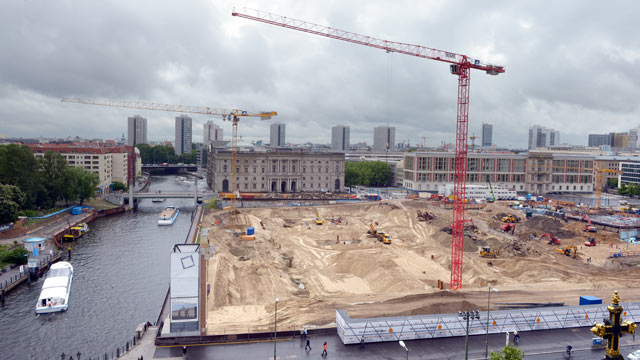 PHOTO: The construction site of the Berlin Palace in Berlin is shown, May 22, 2013.