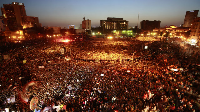 PHOTO: Egyptians gather at Tahrir Square in Cairo to call for a new revolution in Egypt, Saturday, June 2, 2012.