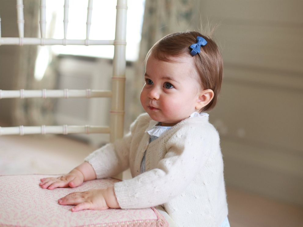PHOTO: Princess Charlotte poses for a photograph, at Anmer Hall, in Norfolk, England. The princess will celebrate her first birthday on Monday.
