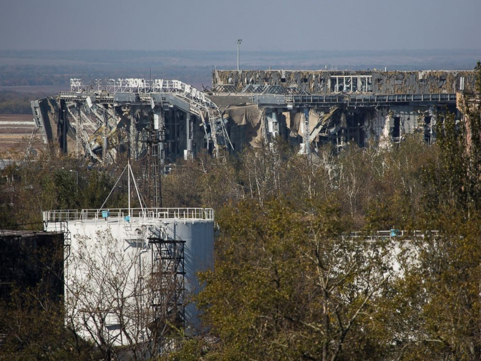 PHOTO: A view of the destroyed main terminal building of the International airport in the town of Donetsk, eastern Ukraine, Oct. 7, 2014.