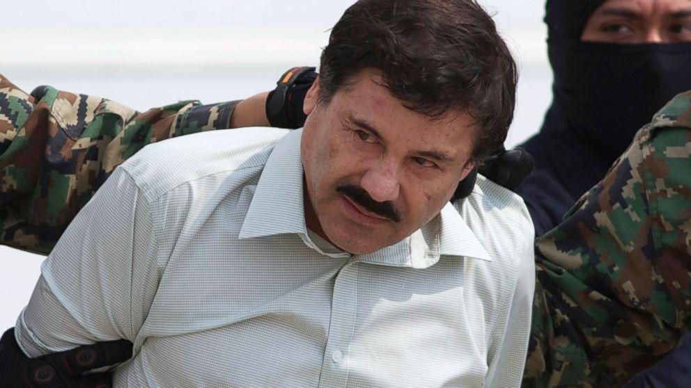 "In this Feb. 22, 2014, file photo, Joaquin ""El Chapo"" Guzman, head of Mexico?s Sinaloa Cartel, is seen in custody in Mexico City following his capture in the beach resort town of Mazatlan."