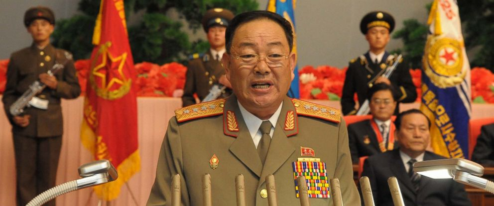 PHOTO: This file photo shows Hyon Yong Chol, chief of the General Staff of North Koreas Korean Peoples Army, giving a speech at a national meeting, December 29, 2012.
