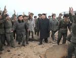 PHOTO: Kim Jong Un and North Korean soldiers