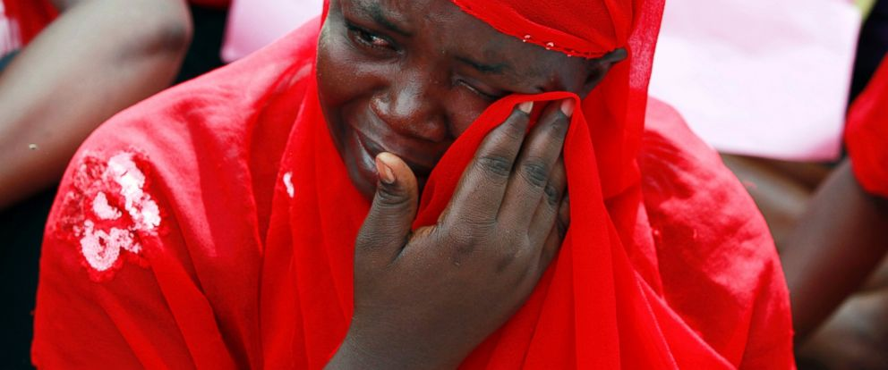 PHOTO: A woman attends a demonstration calling on the government to rescue the kidnapped school girls of a government secondary school Chibok, outside the defense headquarters in Abuja, Nigeria, May 6, 2014.