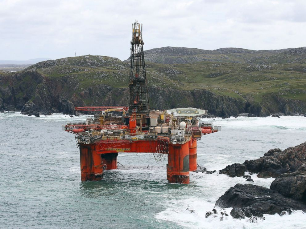 Massive Oil Rig Washes Ashore in Remote Scotland - ABC News
