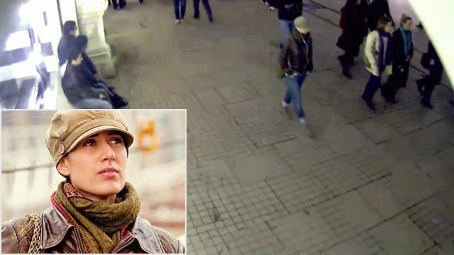 PHOTO: In this undated image made from a CCTV video released by Turkish police, Jan. 29, 2013, a woman identified by police as Sarai Sierra walks outside a shopping mall in Istanbul, Turkey.