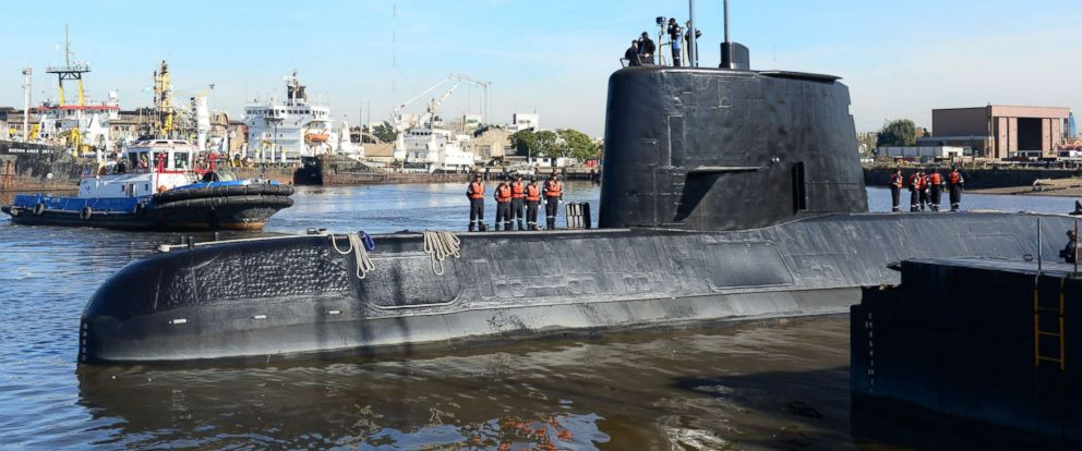 PHOTO: An undated handout photo made available by the Argentine Navy on Nov. 17, 2017 shows the ARA San Juan submarine.
