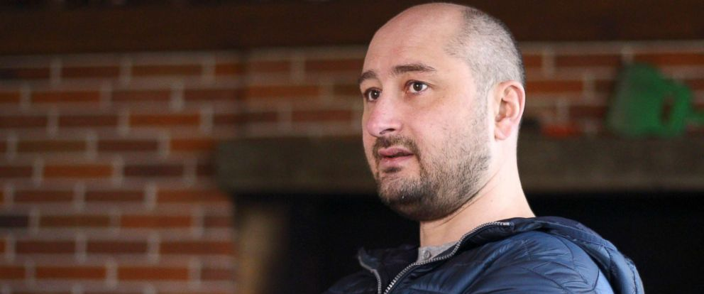 PHOTO: Russian journalist Arkady Babchenko attends an interview in Kiev, Ukraine, Nov. 14, 2017.