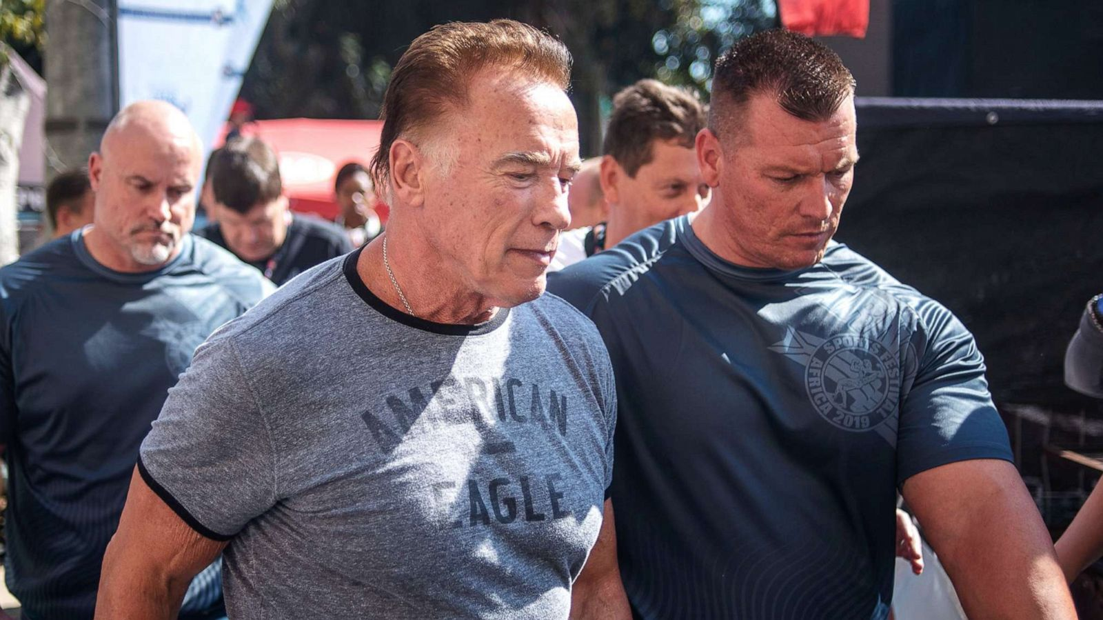 Arnold Schwarzenegger Assaulted At South African Sports Event Abc News