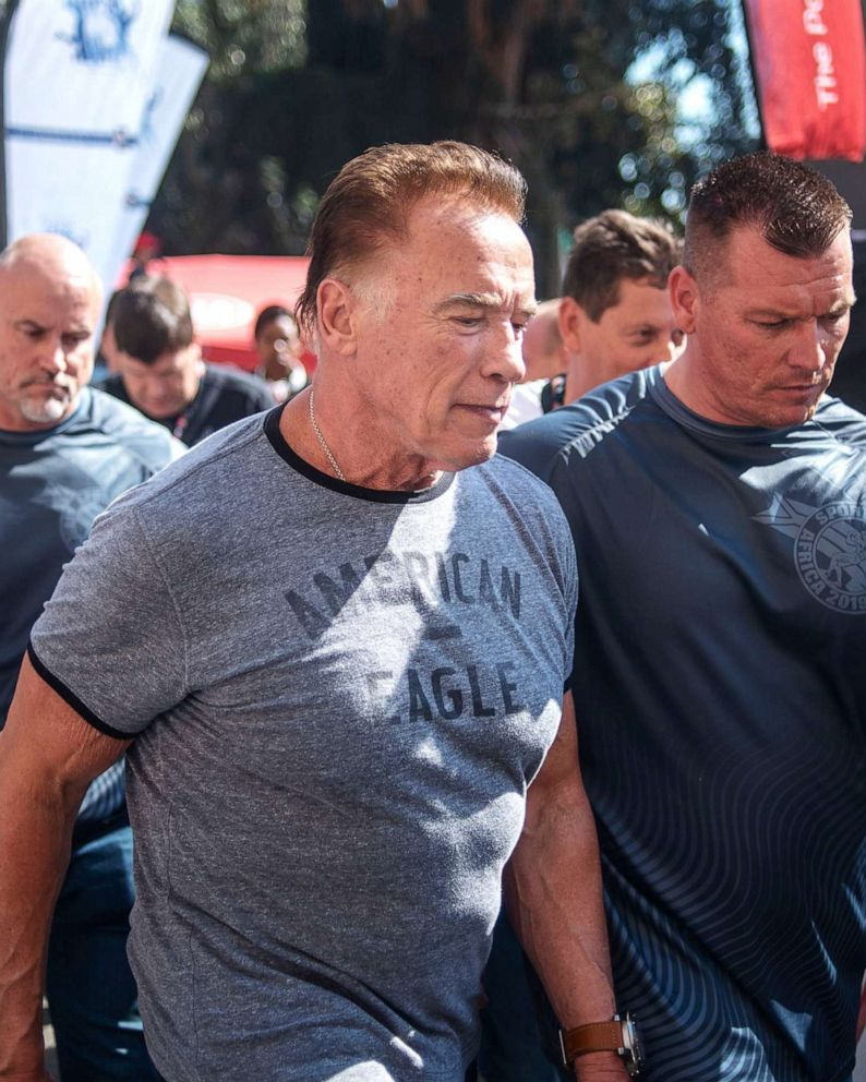 Arnold Schwarzenegger assaulted at South African sports event - ABC News
