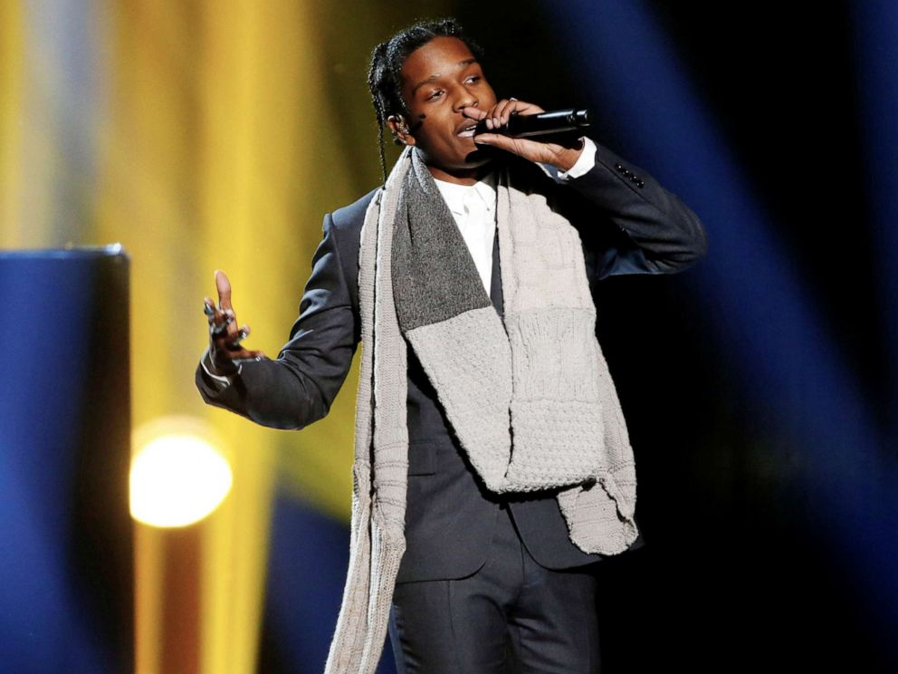 PHOTO: A$AP Rocky performs during the 42nd American Music Awards in Los Angeles, Nov. 23, 2014.