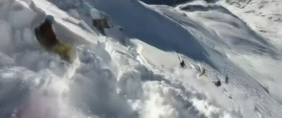 PHOTO: A skiers video captures shock of an avalanche in St. Anton am Arlberg, Austria.