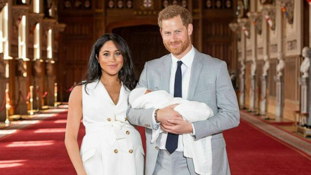 8fd2c863d Prince Harry and Meghan, Duchess of Sussex, during a photocall with their  newborn son