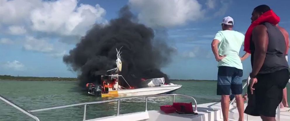 One person was killed and nine injured when a small tour boat exploded off the coast of Exuma in the Bahamas on Saturday, June 30, 2018.