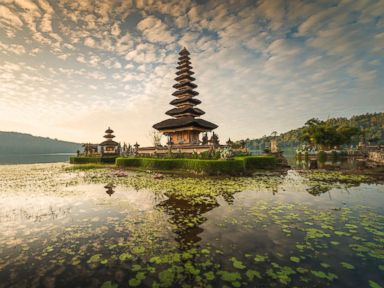 PHOTO: Pura Ulun Danu Bratan, a major Shaivite water temple in Bali, Indonesia, is pictured in this undated stock photo.
