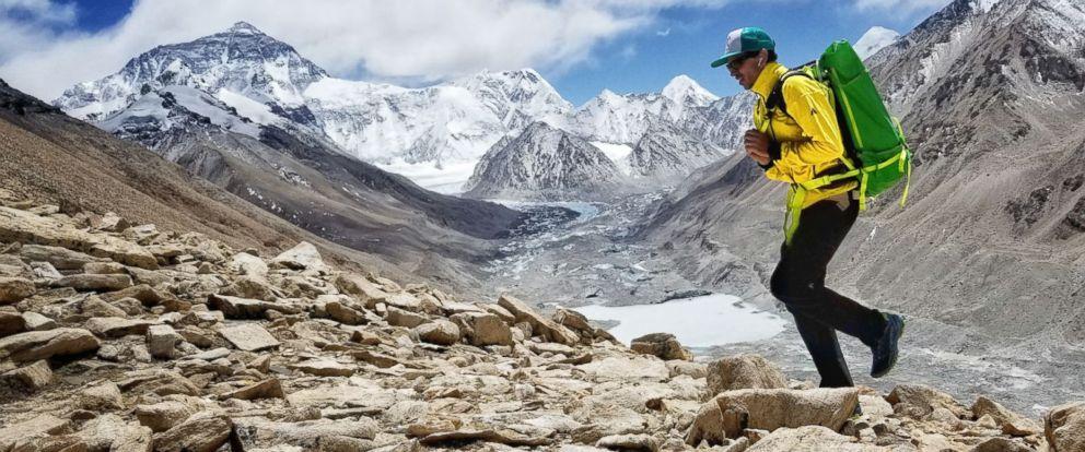PHOTO: Mountaineer Adrian Ballinger at Mount Everest.