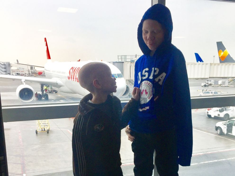 PHOTO: Baraka and Mwigulu, two children from Tanzania who were brutally attacked for having albinism, were brought to New York City on a goodwill mission.