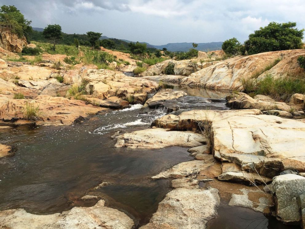 PHOTO: The Sandspruit River, southern area in the Barberton Makhonjwa Mountains in South Africa, is seen in this handout photo made available by UNESCO, July 2, 2018.