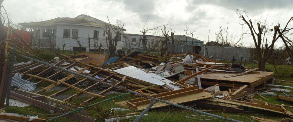 PHOTO: Damage is left after Hurricane Irma hit Barbuda, Sept. 7, 2017.