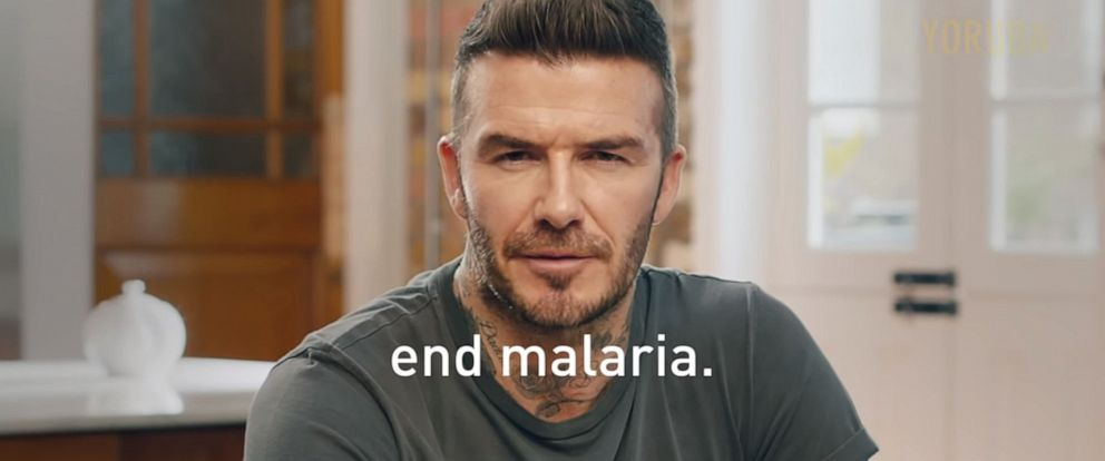 PHOTO: David Beckham appears to speak 9 languages to promote a global campaign to end malaria.