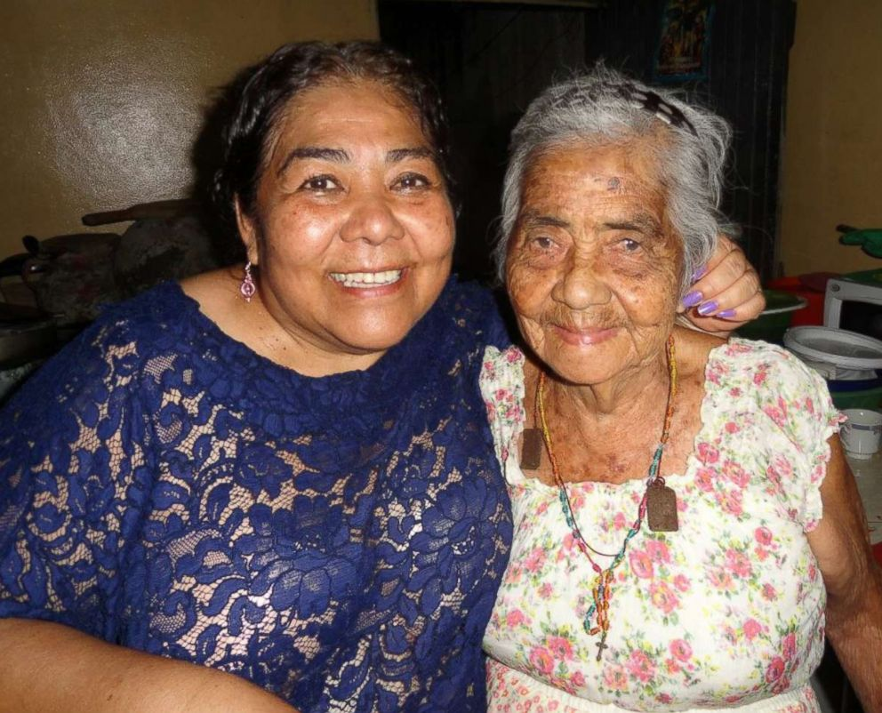 PHOTO: Victoria Moll-Ramirezs mother, Belgica, and grandmother, Maria Victoria, 94, celebrating a birthday in September 2012.