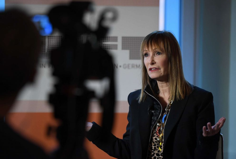 PHOTO: Gale Anne Hurd gestures during an interview with Reuters in Berlin, Feb. 9, 2019.