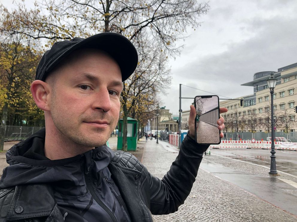 PHOTO: Developer Peter Kolski launched the MaARR app that recreates the Berlin wall and lets users explore events leading up to the fall through augmented reality stories.