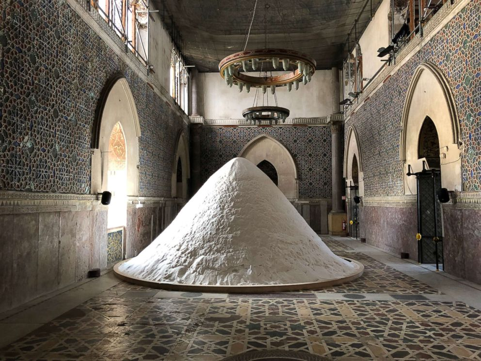 PHOTO: The work The Soul of Salt by artist Patricia Kaersenhout in Palazzo Forcella De Seta during Manifesta art Biennale