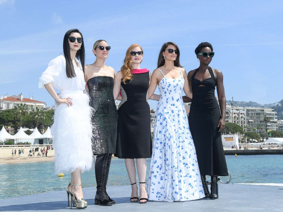 PHOTO: Fan Bing Bing, Marion Cotillard, Jessica Chastain, Penelope Cruz and Lupita Nyongo attend the 355 Photocall during the 71st annual Cannes Film Festival at Palais des Festivals, May 10, 2018, in Cannes, France.
