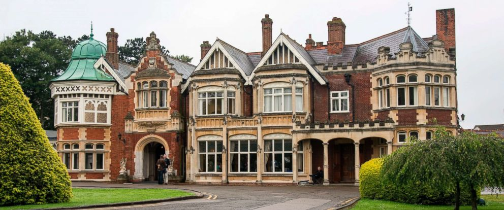 PHOTO: In this file photo shows the manor house in Bletchley Park, London, June 22, 2016.