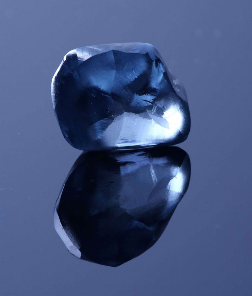 PHOTO: A rare blue diamond was unveiled in Botswana on April 17, 2019.