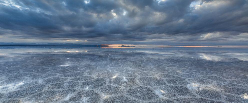 PHOTO: Crystallized salt sprawls across the vast expanse of the worlds largest salt flats in Salar de Uyuni, Bolivia, Jan. 31, 2014.