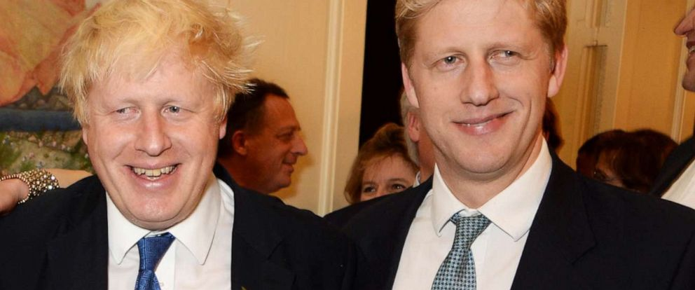 "PHOTO: Boris Johnson and Jo Johnson attend the launch of Boris Johnsons book ""The Churchill Factor: How One Man Made History"" at Dartmouth House on Oct. 22, 2014, in London."