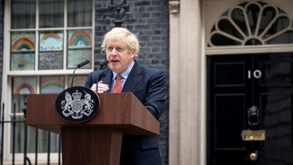 UK Prime Minister Boris Johnson returns to work after ...
