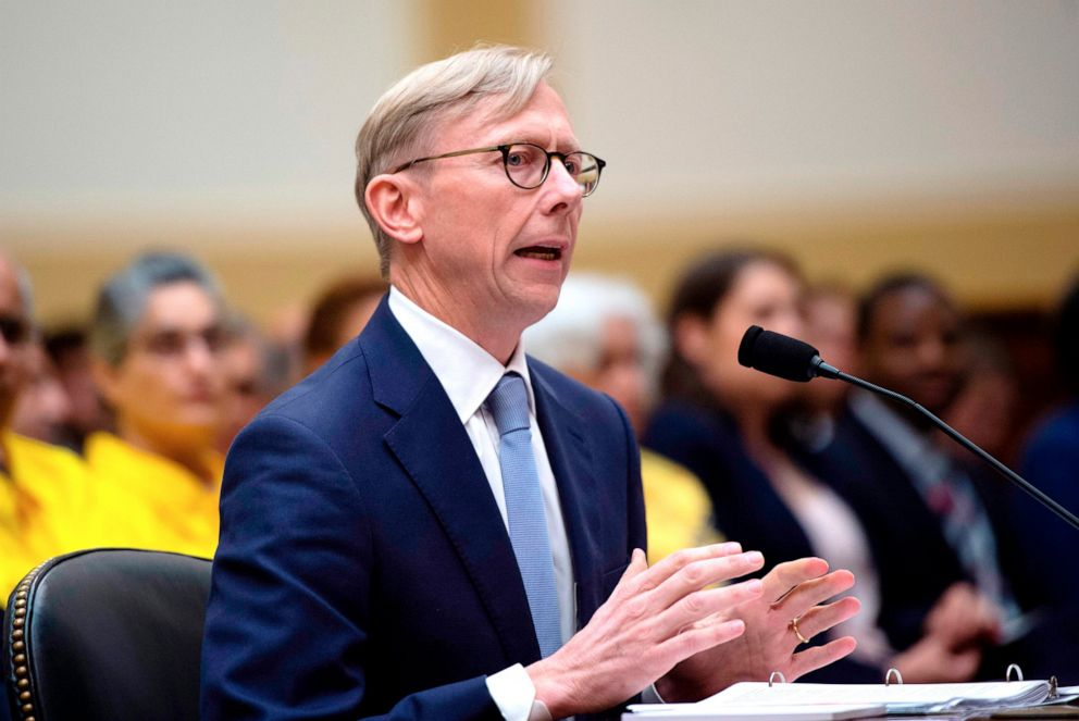 PHOTO: Brian Hook, the U.S. Special Representative for Iran, testifies before a House Foreign Affairs Subcommittee on the Middle East, North Africa, and International Terrorism hearing at the Capitol in Washington, D.C., June 19, 2019.