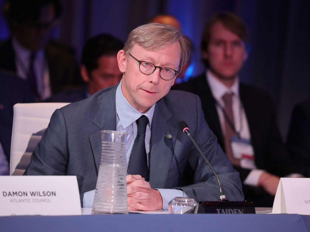 PHOTO: Brian Hook, Director of Policy Planning, U.S. Department of State, speaks at The 2017 Concordia Annual Summit at Grand Hyatt New York, Sept. 19, 2017, in New York City.