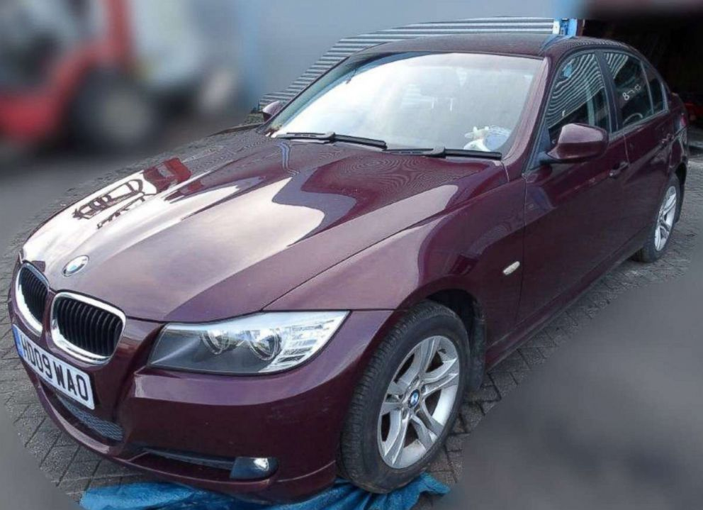 BMW car owned by former Russian spy Sergei Skripal is seen in this