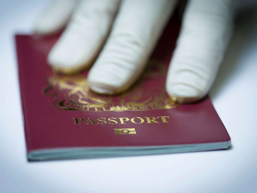 PHOTO: A U.K. passport book.