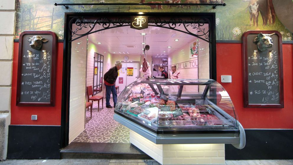 In This File Photo A Butcher Shop Is Seen The Old City Of Nice